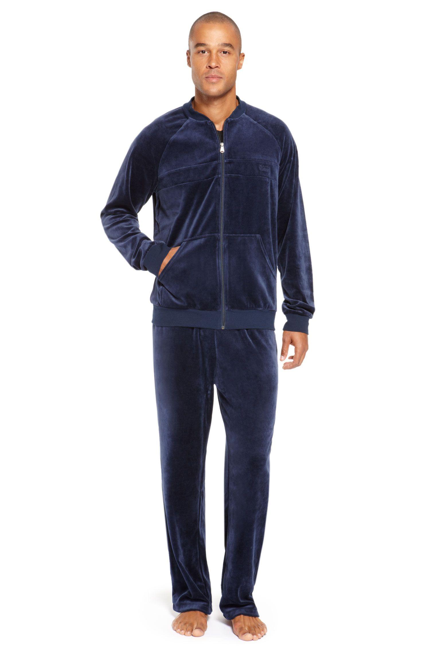 Velour Cotton Blend Sweatshirt & Pants