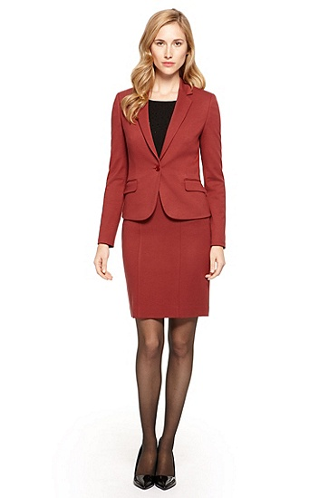 Stretch Skirt Suit,