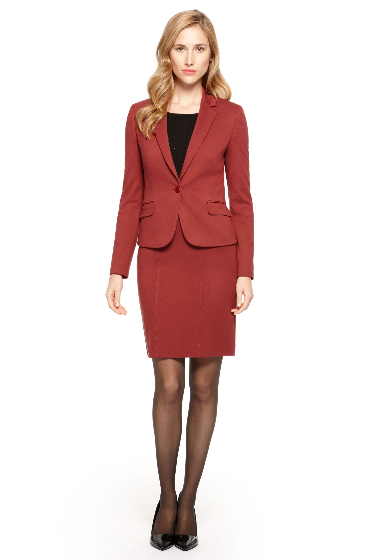 Stretch Skirt Suit