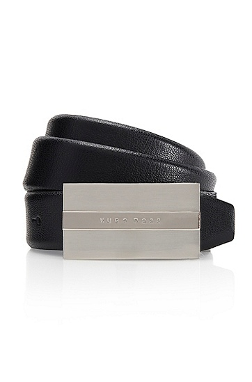 'Baxter' | Leather Belt, Black