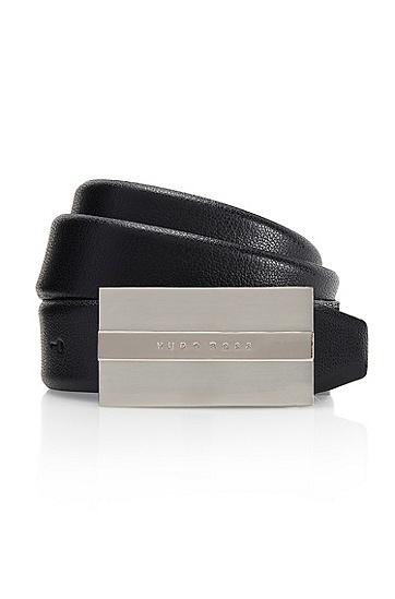 'Baxter' | Leather Belt, Black