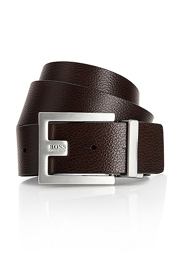 'Fleming' | Reversible Leather Belt , Black