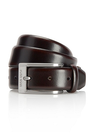 'Ugos' | Leather Belt , Brown