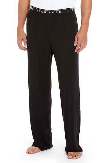 'Long Pant BM' | Stretch Modal Lounge Pants, Black