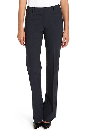'Tuliana' | Stretch Virgin Wool Dress Pants, Dark Blue