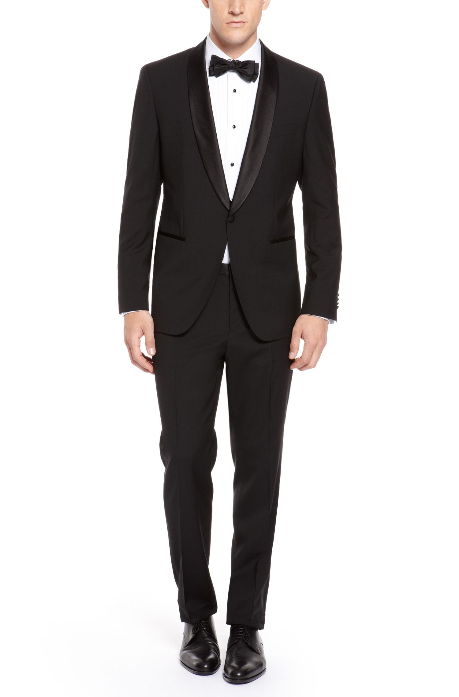 'Sky/Gala' | Regular Fit, Virgin Wool Shawl Collar Tuxedo