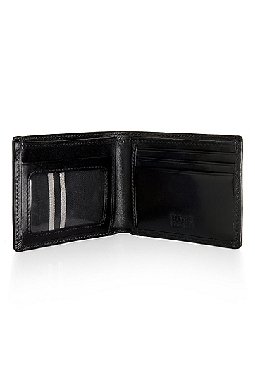 'Bengio' | Leather Wallet, Black
