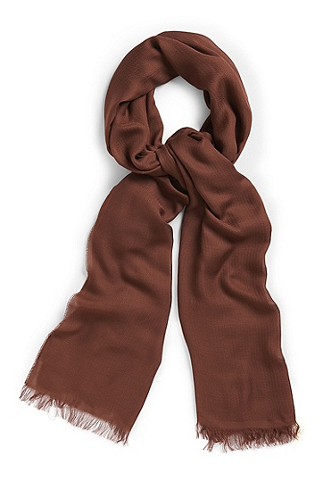 'Women-Z' | Modal Chevron Scarf, Brown