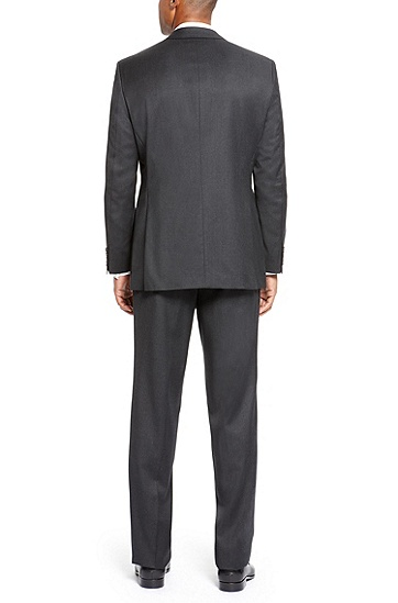 'Pasolini/Movie' | Comfort Fit, Super 110 Virgin Wool Suit, Dark Grey