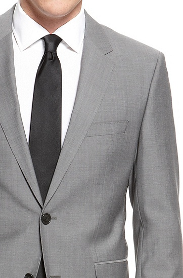 'The James/Sharp' | Regular Fit, Super 120 Italian Virgin Wool Suit, Grey