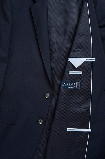 'The James/Sharp' | Regular Fit, Super 120 Italian Virgin Wool Suit, Dark Blue