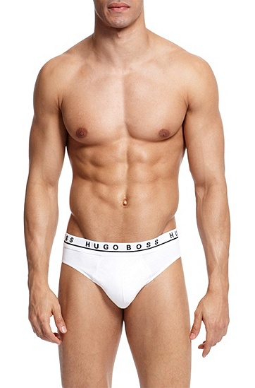 'Mini 3P BM' | Stretch Cotton Brief, 3-Pack, White
