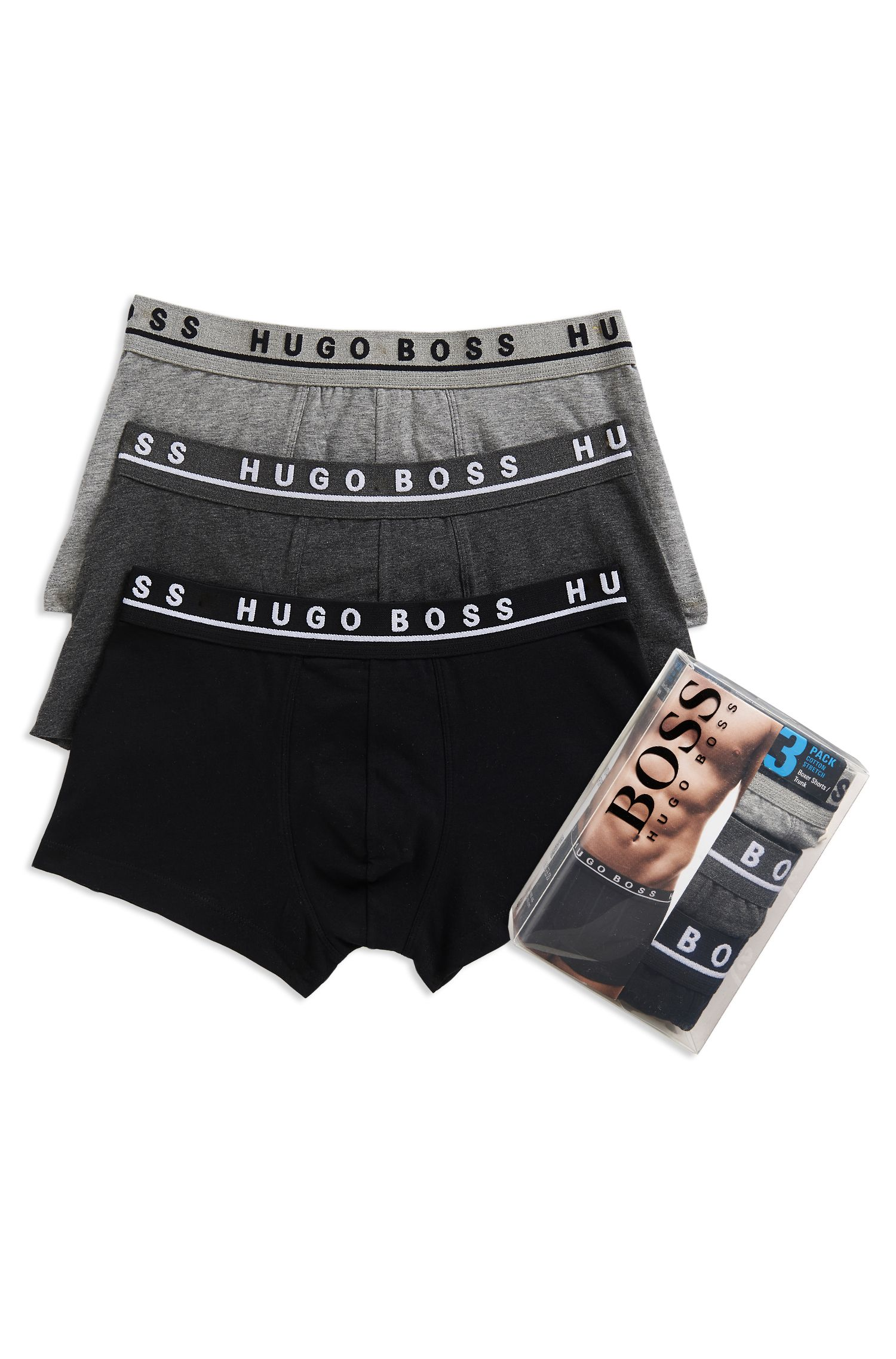 'Trunk' | Stretch Cotton Trunk, 3-Pack