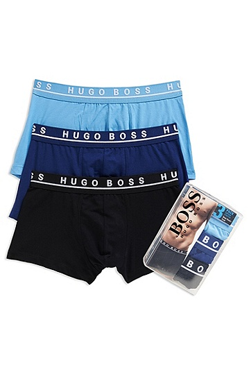 'Trunk' | Stretch Cotton Trunk, 3-Pack, Open Blue