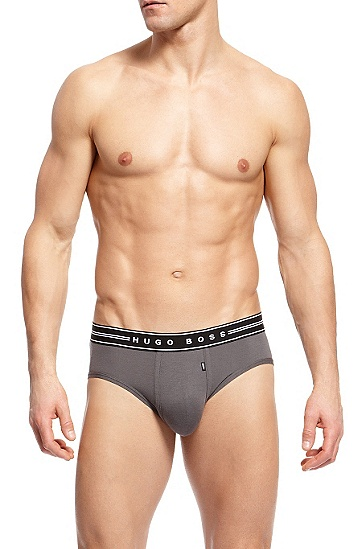 'Mini BM' | Stretch Modal Brief , Open Grey