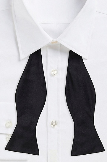 'Bow Tie Classic ' | Silk Solid Bow Tie, Black