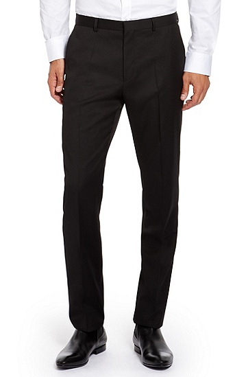 'Aeron/Hamen' | Slim Fit, High Pigmented Super 130 Virgin Wool Suit, Black