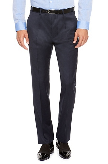 'Aeron/Hamen' | Slim Fit, High Pigmented Super 130 Virgin Wool Suit, Dark Blue