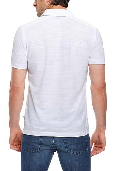 'Fontana' | Regular Fit, Cotton Layered Placket Polo Shirt, White
