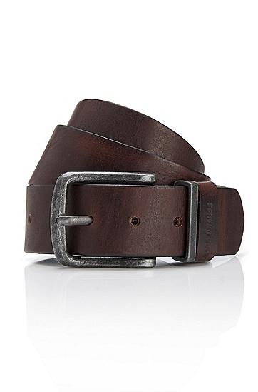 'Jeppo' | Italian Leather Belt, Dark Brown
