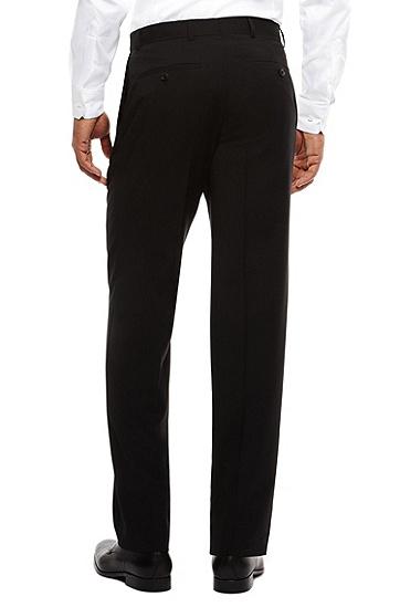 'Jeffery' | Comfort Fit, Virgin Wool Dress Pants, Black