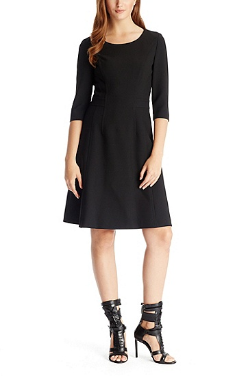 'Direne' | Stretch Jersey Dress, Black
