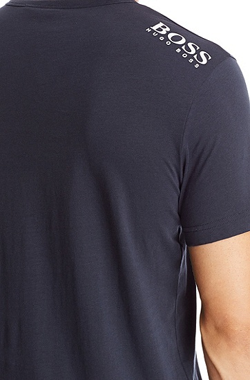 'Teevn' | Cotton V-Neck T-Shirt, Dark Blue
