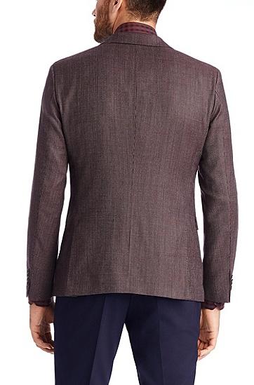 'Rhett' | Extra Slim Fit, Virgin Wool Sport Coat, Dark Red