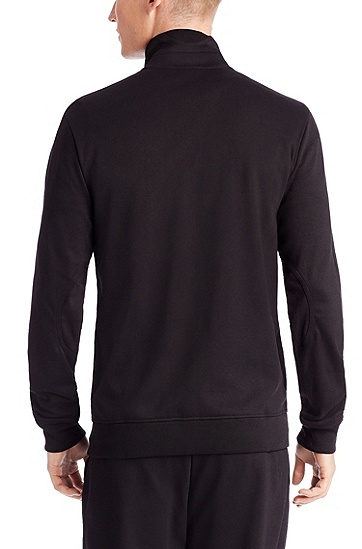 'Dimon-US' | Cotton Zip Up Sweatshirt, Black