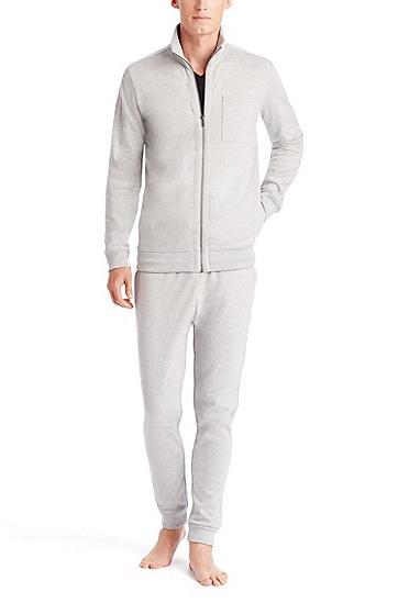 'Dimon-US' | Cotton Zip Up Sweatshirt, Open Grey