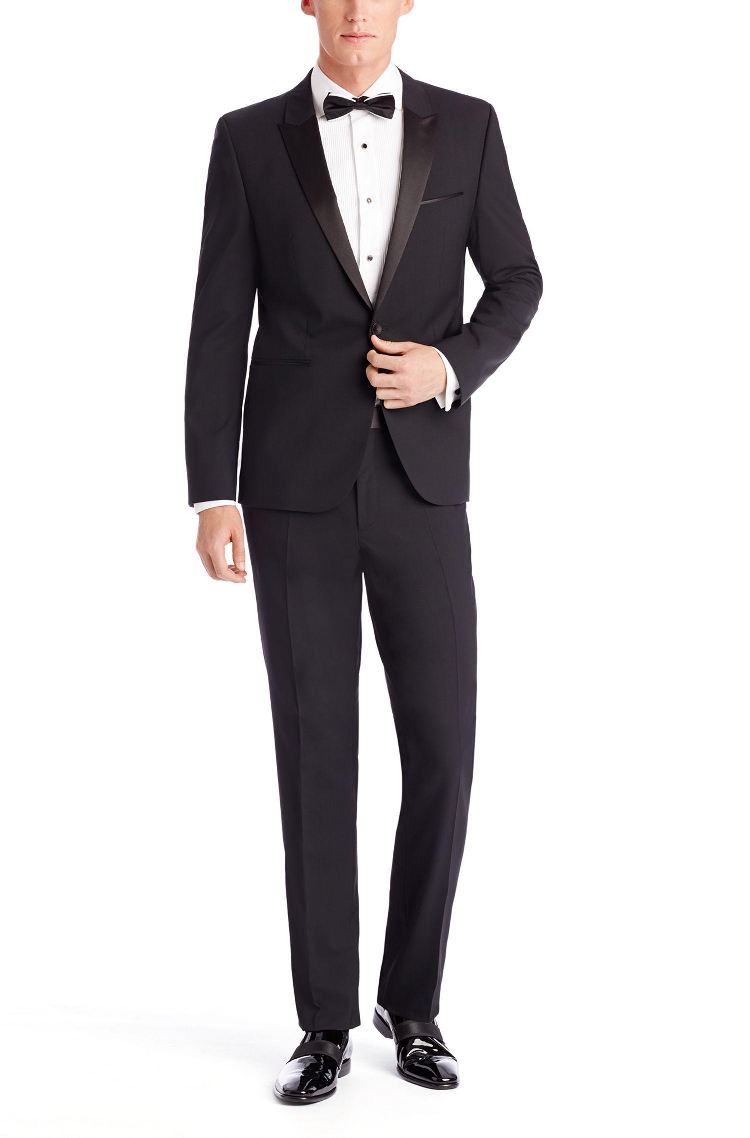 'Aylor/Herys' | Slim Fit, Stretch Virgin Wool Tuxedo