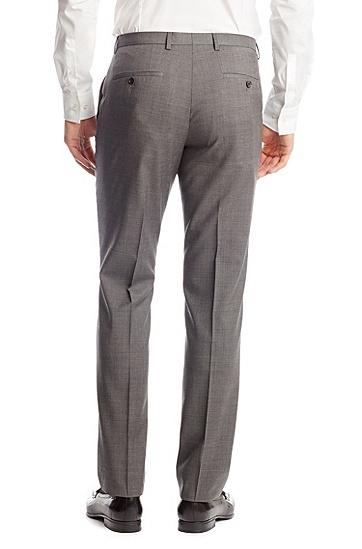 'Sharp' | Regular Fit, Virgin Wool Dress Pants, Open Grey