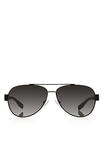 'Sunglasses' | Matte Black Metal Aviator Sunglasses, Assorted-Pre-Pack