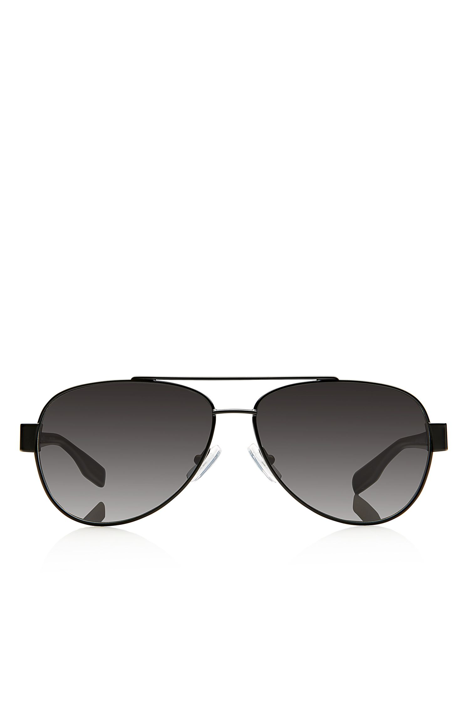 'Sunglasses' | Matte Black Metal Aviator Sunglasses