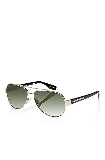 'Sunglasses' | Light Gold Metal Aviator Sunglasses, Assorted-Pre-Pack
