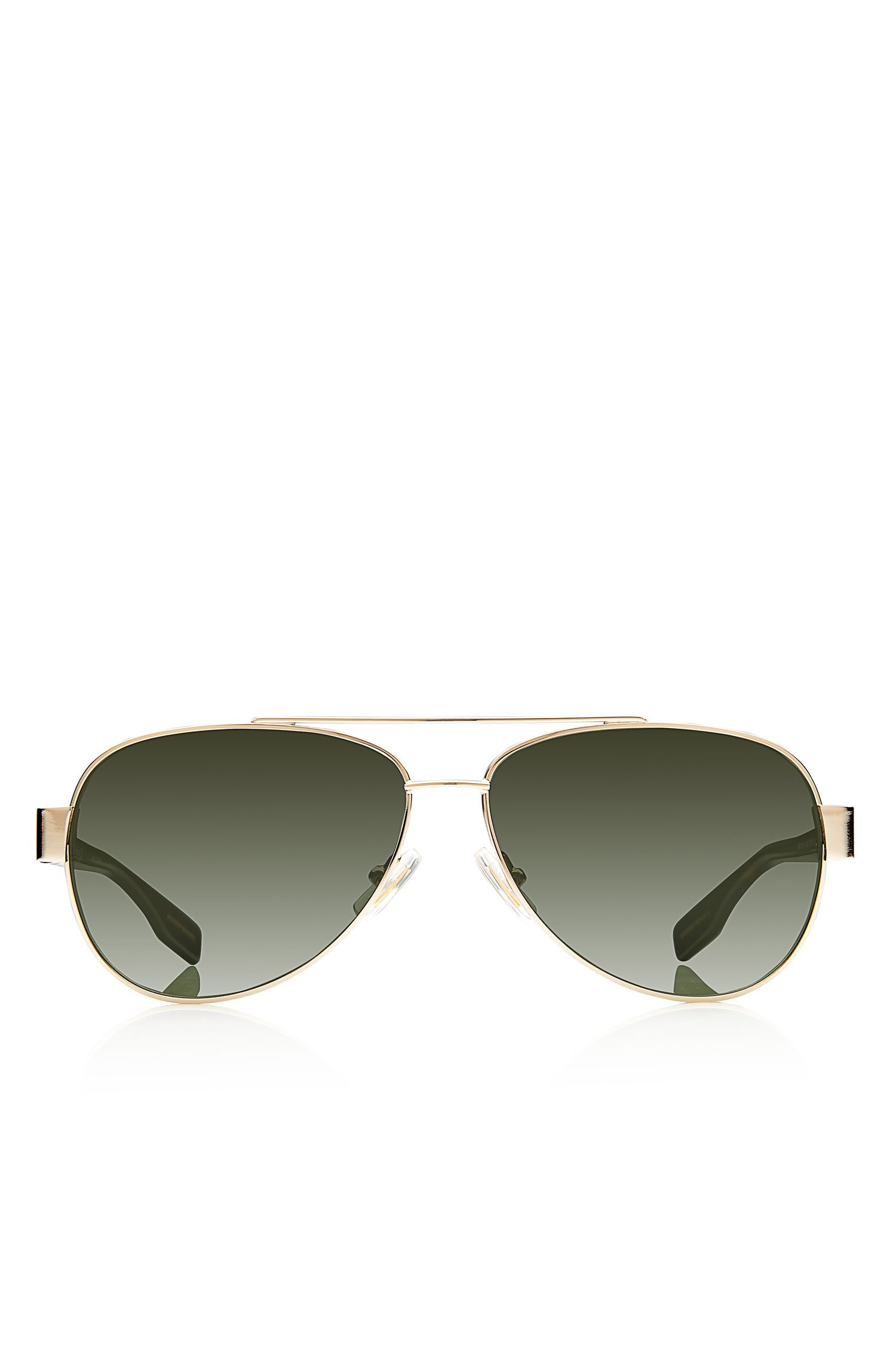 'Sunglasses' | Light Gold Metal Aviator Sunglasses