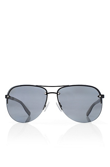 'Sunglasses' | Dark Ruthenium Rimless Aviator Sunglasses, Assorted-Pre-Pack
