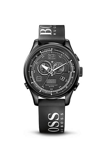 '1512832' | Chronograph Black Silicon Logo Strap Watch , Assorted-Pre-Pack