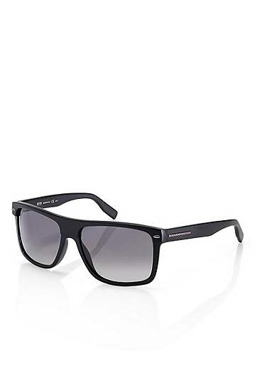 'Sunglasses' | Plastic Flat Top Frame Sunglasses, Assorted-Pre-Pack