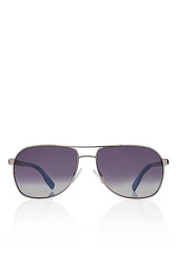 'Sunglasses' | Matte Ruthenium Frame Polarized Sunglasses, Assorted-Pre-Pack