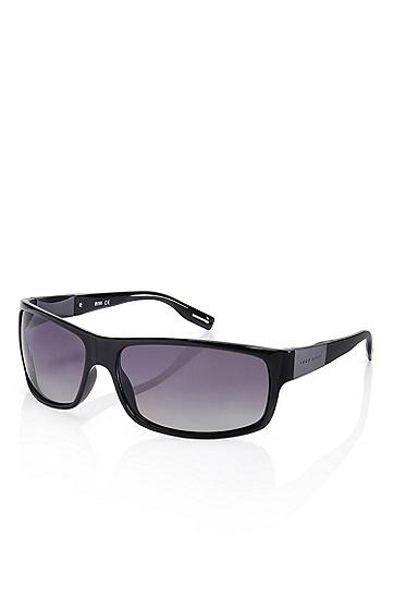 'Sunglasses' | Shiny Black Polarized Sunglasses, Assorted-Pre-Pack