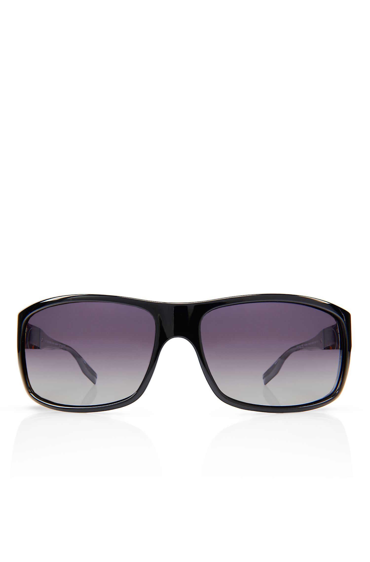'Sunglasses' | Shiny Black Polarized Sunglasses