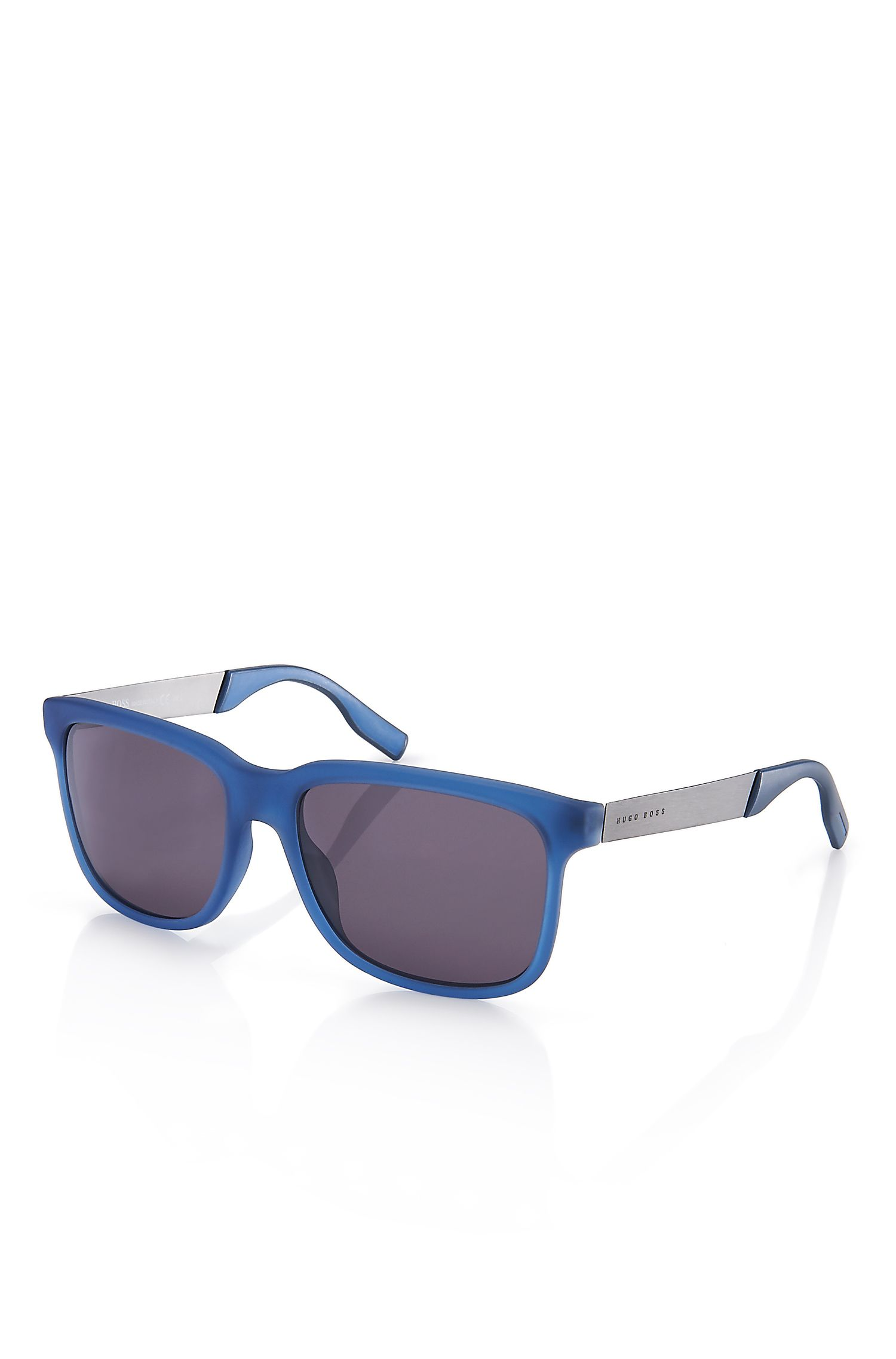 'Sunglasses' | Silver and Blue Polarized Sunglasses