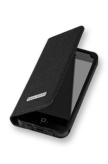 'Folianti IP5' | Leather Magnetic iPhone 5 Case , Black