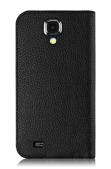 'Folianti S4' | Leather Magnetic Samsung Galaxy S4 Case , Black