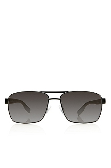 'Sunglasses' | Black Aviator Shaded Temple Sunglasses , Assorted-Pre-Pack
