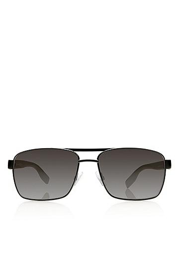 'Sunglasses' | Black Aviator Shaded Temple Sunglasses , Assorted-Pre-Pack