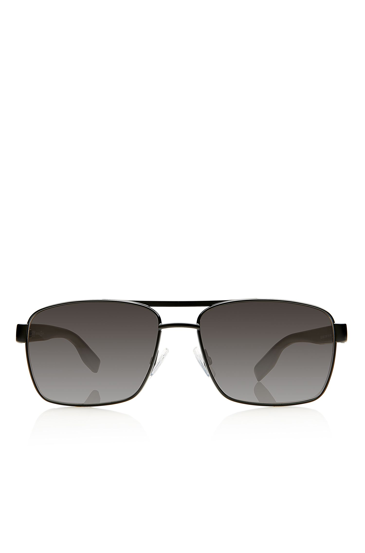 'Sunglasses' | Black Aviator Shaded Temple Sunglasses