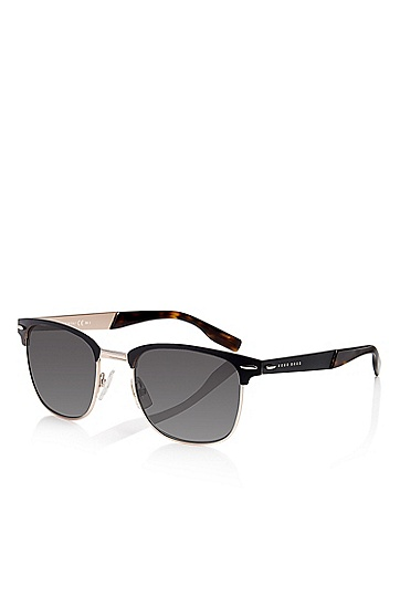 'Sunglasses' | Matte Black Semi-Rimless Sunglasses, Assorted-Pre-Pack