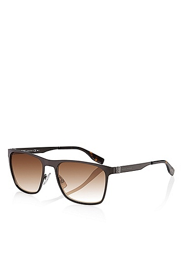 'Sunglasses' | Dark Ruthenium Flat Metal Sunglasses, Assorted-Pre-Pack